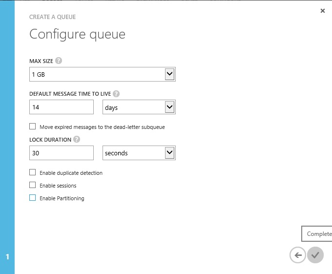 AMQP to Azure - Disable Partitioning Queue